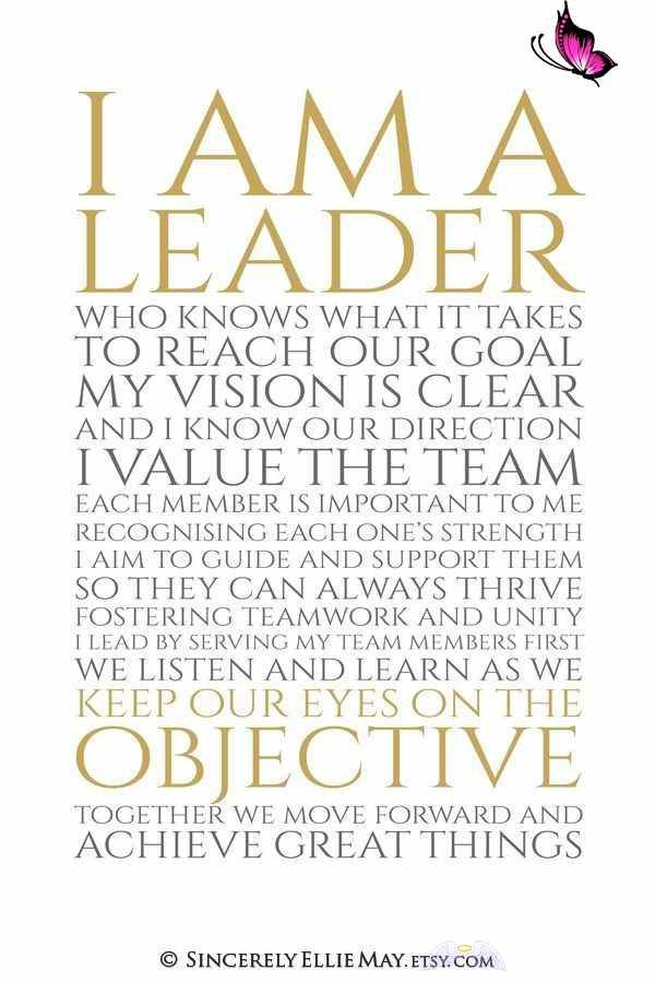 Leadership Motivational Quotes Success Signs Great As Gifts I Am A Leader Printable Office Wall Art Posters And Cards You Print 40509 Br You Prin I 2020 Ledarskap