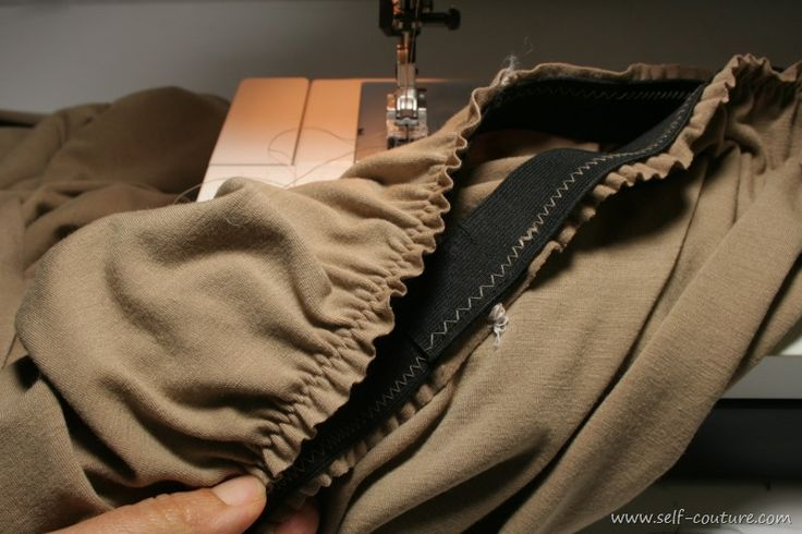 Coudre une ceinture élastique à la taille