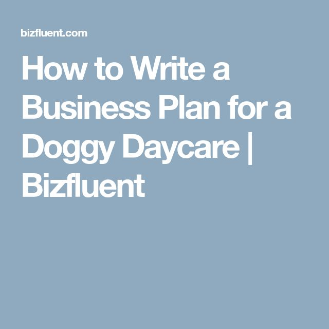 daycare business plans