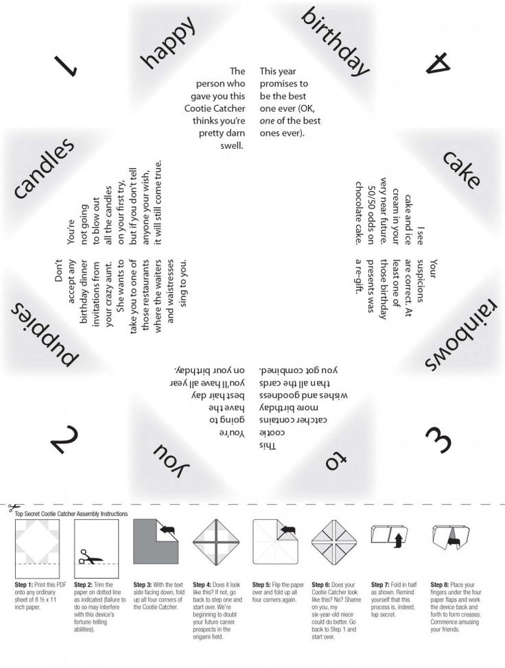 56 best Cootie Catchers \/ Paper Fourtune Tellers images on - cootie catcher template