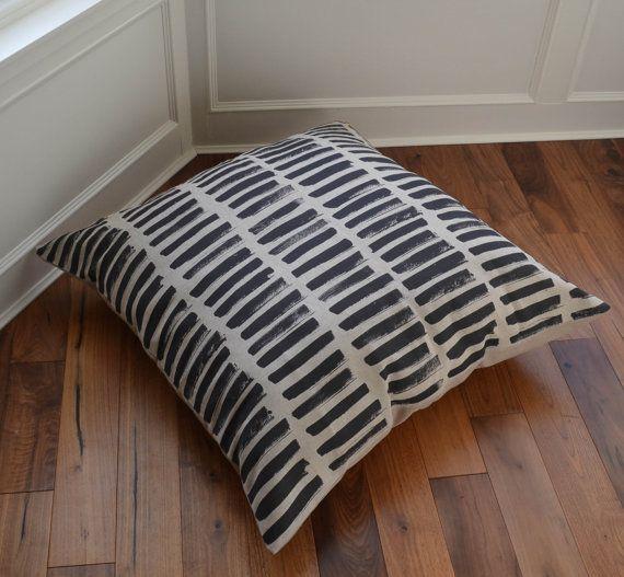 Stripes Floor Cushion 90 x 90 cm  home by JillKirkhamTextiles