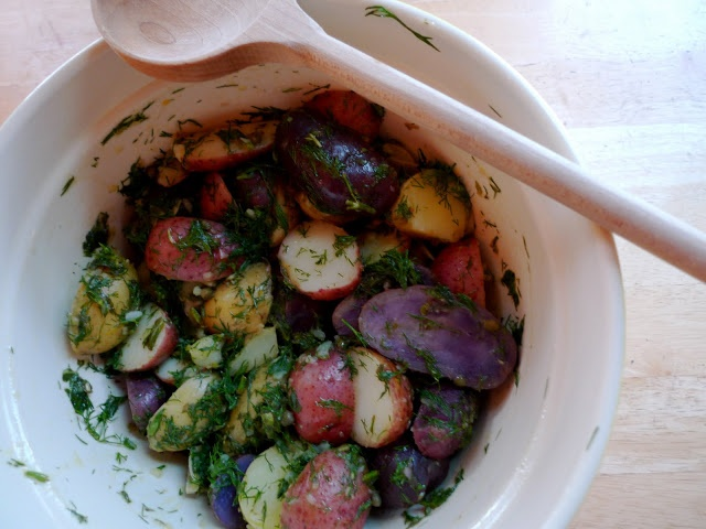 Rainbow Potatoes with Capers & Dill | EAT ME, DRINK ME | Pinterest