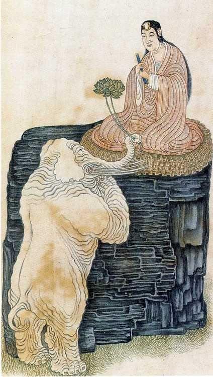 Bodhisattva Samanthabhadra from Twenty-five Buddhist Deities of the Surangama Sutra.  Wu Bin. S)