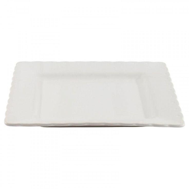 Stoneware Σετ Πιάτα Φαγητού 6τμχ. Λευκό