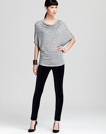 Velvet by Graham & Spencer Top - Lurex Sweater Knit | Bloomingdale's