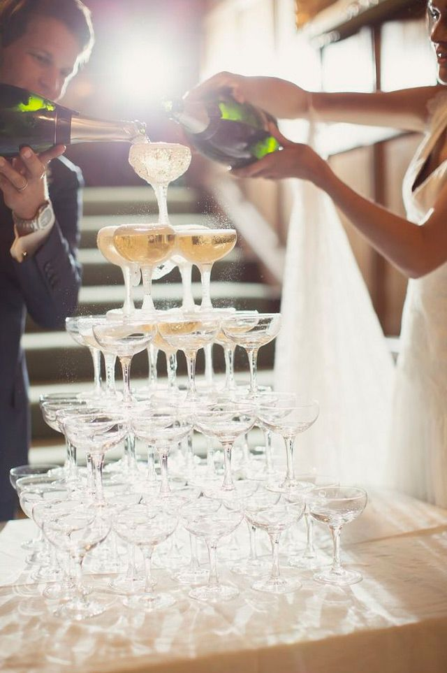 Awesome Photo Op for Weddings ~ The Champagne Tower  ~ we ♥ this! moncheribridals.com