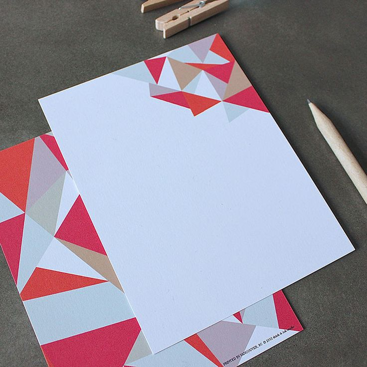 Shattered Triangles Note Set