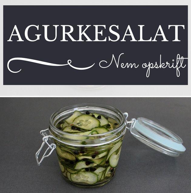 En dejlig hjemmelavet agurkesalat er bare så meget bedre end den færdigkøbte af slagsen. Og så gør det jo ikke noget, at opskriften er super simpel.