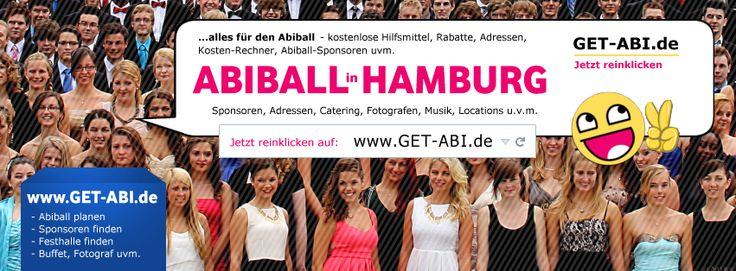 Abiball HAMBURG - Du planst einen Abiball in Hamburg für das ABI2015 / ABI2016? Dann solltest Du diese Seite bei Facebook besuchen, wo Du sehr viele Infos rund um die Abiball-Planung in Hamburg (HH) findest, z.B. Cateringdienste, Festhallen, Sicherheitsdienste, Abifotografen, Deko & Luftballons uvm. https://www.facebook.com/pages/Abiball-Hamburg/1535294063350193