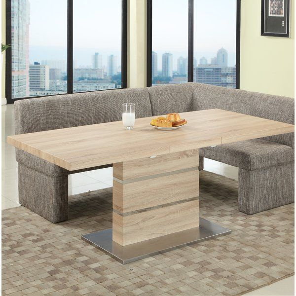 Angelo Extendable Dining Table Modern Bench Dining Table Dining Table With Bench Dining Table Setting