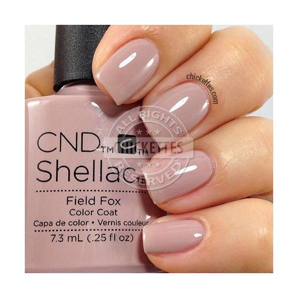 CND Shellac nail color Romantique# french manicure ❤ liked on Polyvore featuring beauty products and nail care