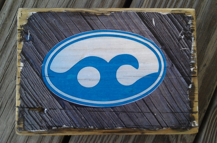 color photograph of the ocean city md logo transfered onto