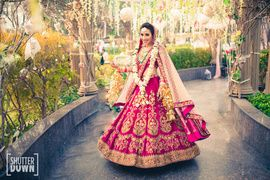 Twirling bride #pomegranate #pink