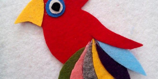Keçe ile Papağan Yapımı | gulresm.com