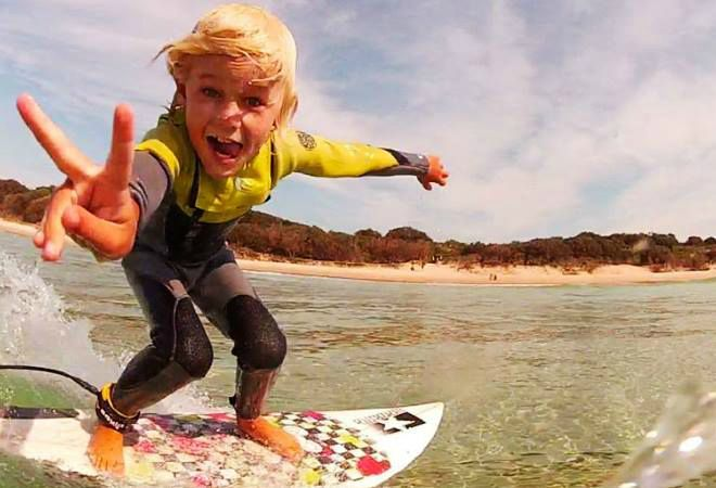 Next generation surfer. It's all about having fun!