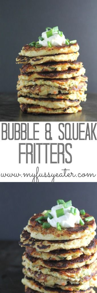 Use up leftover mashed potato and vegetables by turning them into Bubble & Squeak Fritters. The ultimate in comfort food!