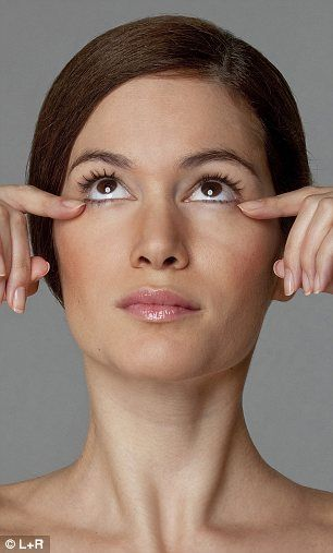 The lower eyelid lifter