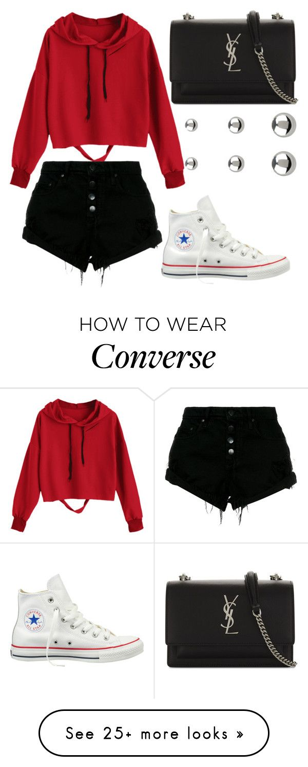 """""""Untitled #389"""" by allofmeallofme on Polyvore featuring Nobody Denim, Converse, Yves Saint Laurent and Accessorize"""