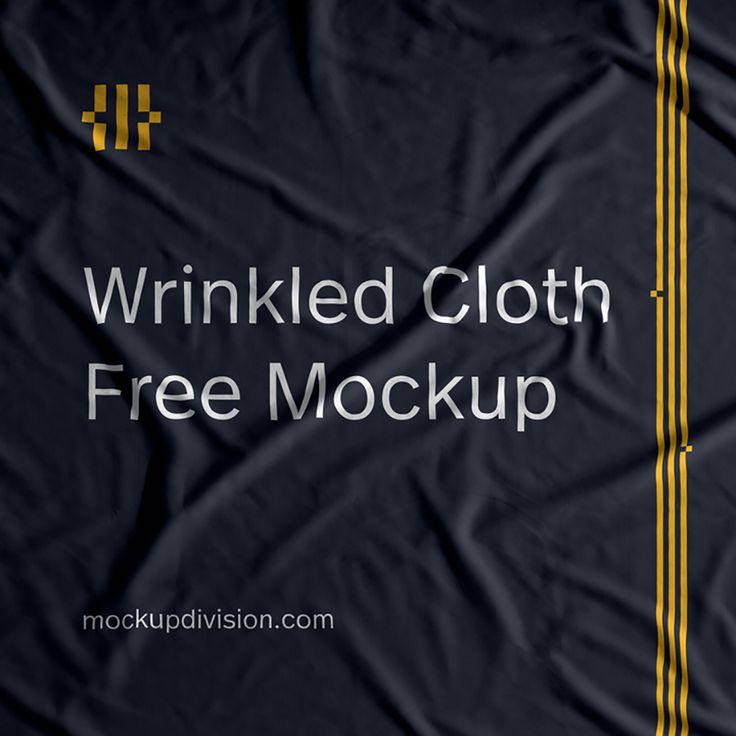 Free Wrinkled Cloth Mockup Free Design Resources Clothing Mockup Free Mockup Mockup
