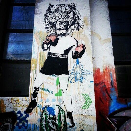 """El Tigre Gareca"" #tiger#boxing #box#ciudadautonomadebuenosaires #buenosaires #city #rain #instagrammers #picoftheday #fotodeldia #travel #travelling #daylife #argentina  #joinnow #flickr #tumbrl #pinterest #flipboard #alexistango"