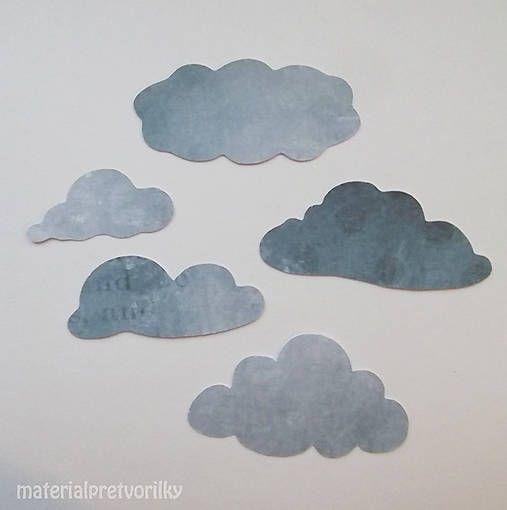 MaterialPreTvorilky / výrezy Oblaky ošľahané vintage