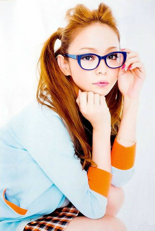 Namie Amuro with glasses