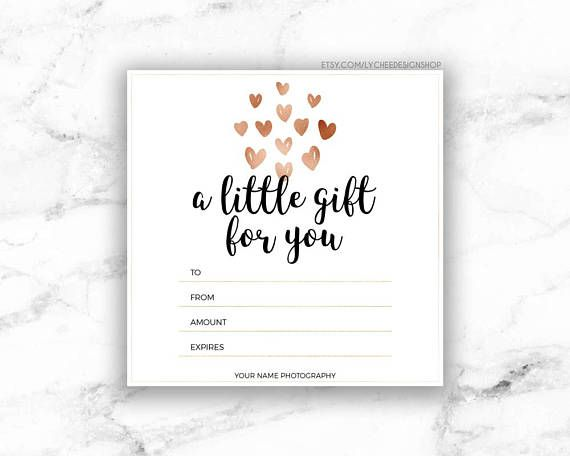 Printable Rose Gold Hearts Gift Certificate Template Etsy Printable Gift Certificate Gift Certificate Template Free Gift Certificate Template