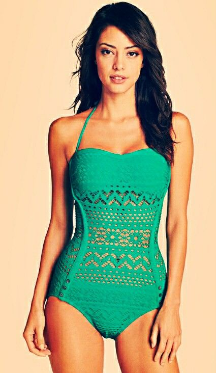 Crochet One Piece : Crochet one piece swimsuit omg. love this suit in black. . . didnt ...