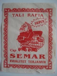 Plastic rope label: SEMAR (wayang character)