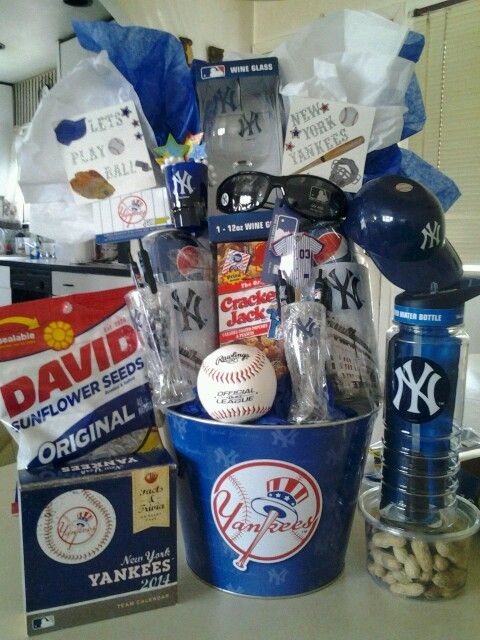 Something Im currently working on...NY YANKEES raffle basket. Also perfect for a birthday, gift or an Easter basket.