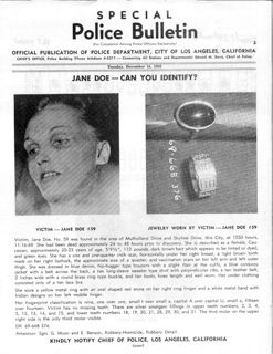 True Crime Diary // Jane Doe No. 59, Los Angeles 1969