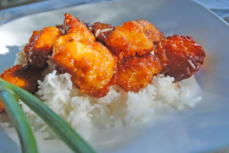Baked Sweet 'N Sour Chicken: heavy and not quick to make but delicious, especially if you throw in some sautéed peppers and Baby bok choi!