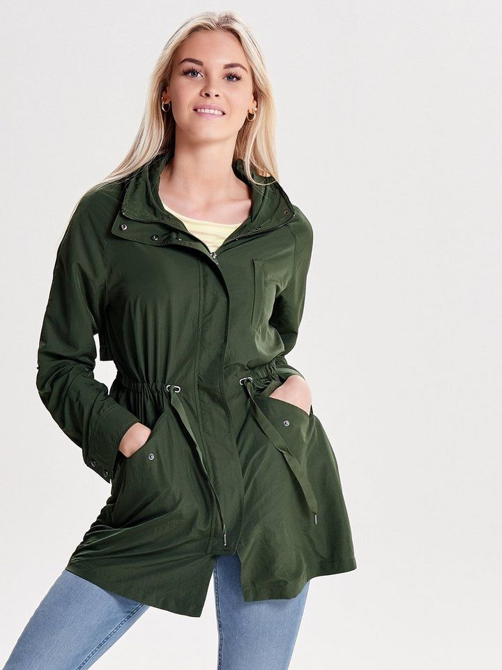 Only einfarbiger mantel