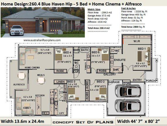5 Bedroom Design Bed Floor Plans