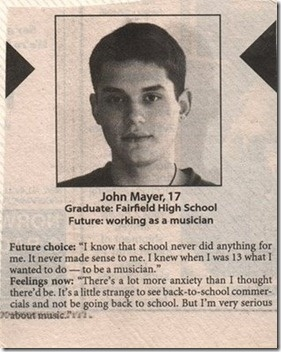 17 year old John Mayer. looks like it turned out well!