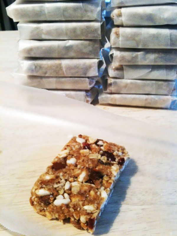 Yum.. Just tried these.  They're still cooling, but I sampled the warm version.  YUM.  My favorite home made granola bar yet.  I accidentally added 3 tbsp of sugar instead of 2....might make it as good as it is.  I used cinnamon, raisins and sunflower seeds.