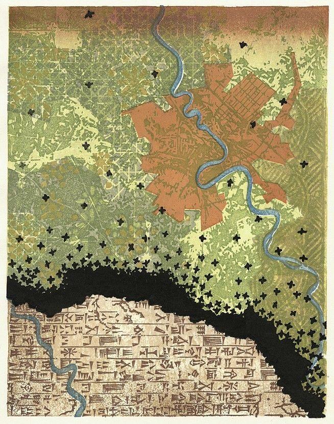 LOCUSTS IN BABYLON Japanese Woodblock Print Based