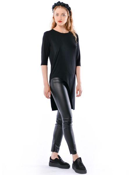Justyna Hypnotic Black - asymetryczna, długa koszulka