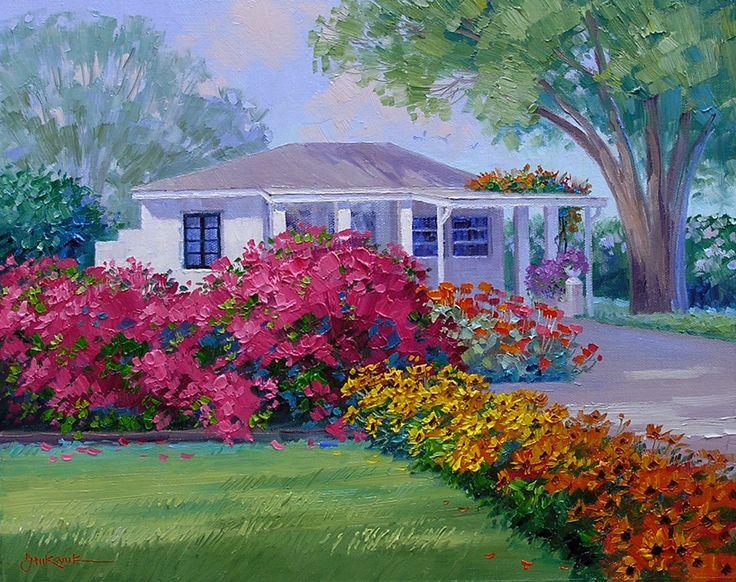 Simple Flower Garden Paintings 1036 best art flowers 3 images on pinterest | art flowers, oil