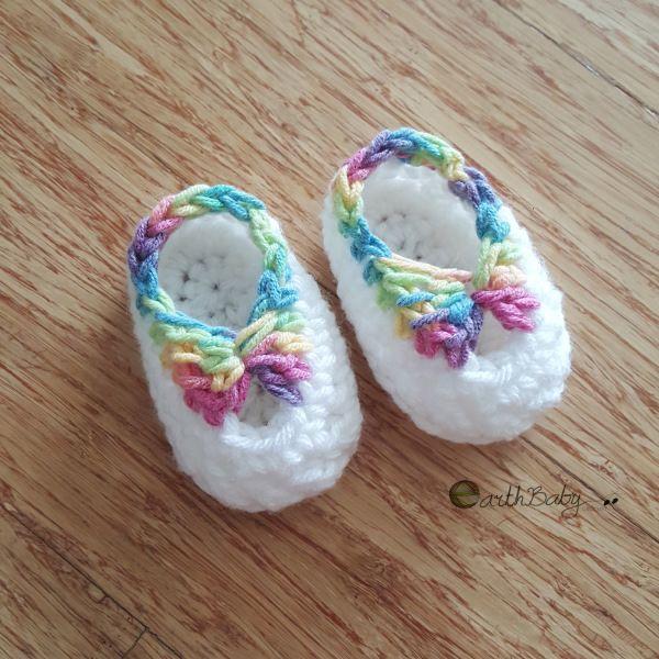 PASO A PASO -botines recién nacidos Quick patrón de crochet libre de derechos de autor por - earthbabycrochet