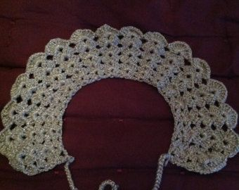 Vintage Crochet Peter Pan Collar Top Extra Small/ by LunaMarket