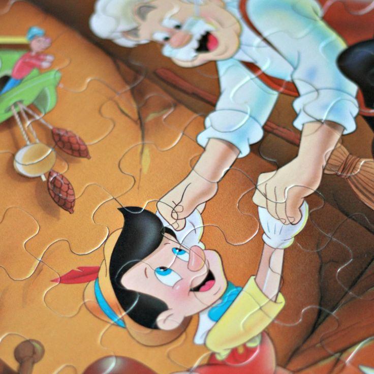 Casse-tête Pinocchio année 90, casse-tête Geppetto, Casse-tête 63 pièces, Casse-tête Disney, Casse-tête enfant retro, cadeau enfant, de la boutique PastelEtPixel sur Etsy