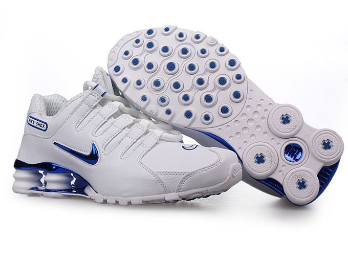 Cheap Men Nike Shox NZ Shoes Galvanoplastics Logo blue white