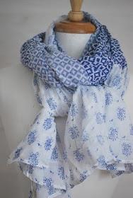 printed #voile #scarves - pretty shades of blue.. http://www.lovelysilks.com