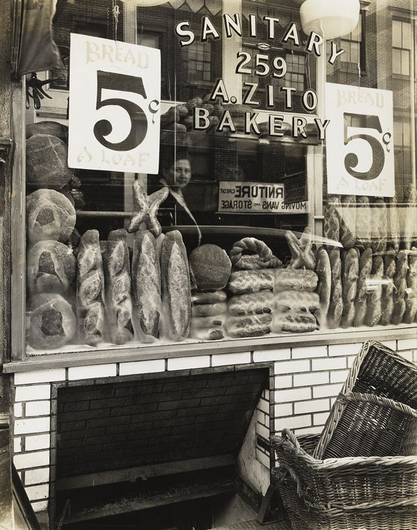 Berenice Abbott, Zito's Bakery, 259 Bleecker Street , 1937, from Changing New York
