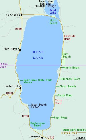 #BearLake, eastern corner of #Idaho on the Utah/Idaho border. Excellent vacation/camping. | Visitidaho.org
