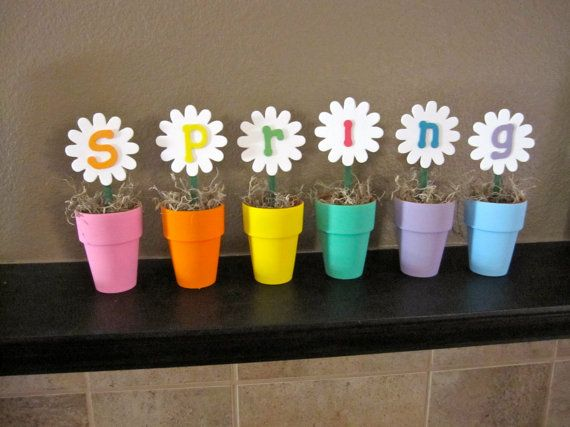 Spring Home Decor Floral Hand Painted Display by ManicCreativity, $32.00