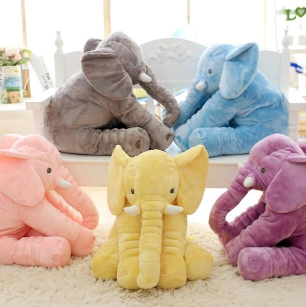 1pc 60cm Fashion Baby Animal Elephant Style Doll Stuffed Elephant Plush Pillow Kids Toy Children Room Bed Sleeping Pillow