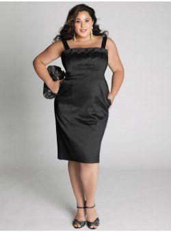 en plus robe de soirée taille robe de cocktail en noir Cybelle