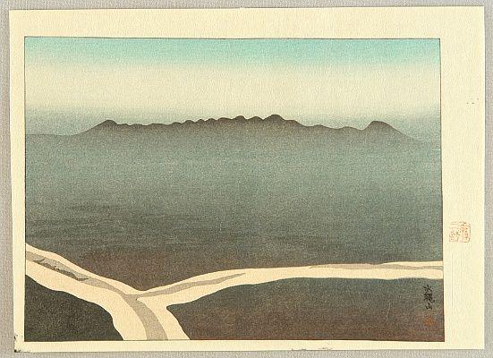 Sakamoto Hanjirō,Five Views of Tsukushi - Mt. Suijo